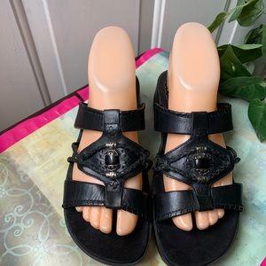 """Wear Ever Baretraps Sz 7M  """"Ollie"""" Black Sandal 2"""""""